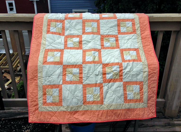 Peach and Gold Quilt (front)