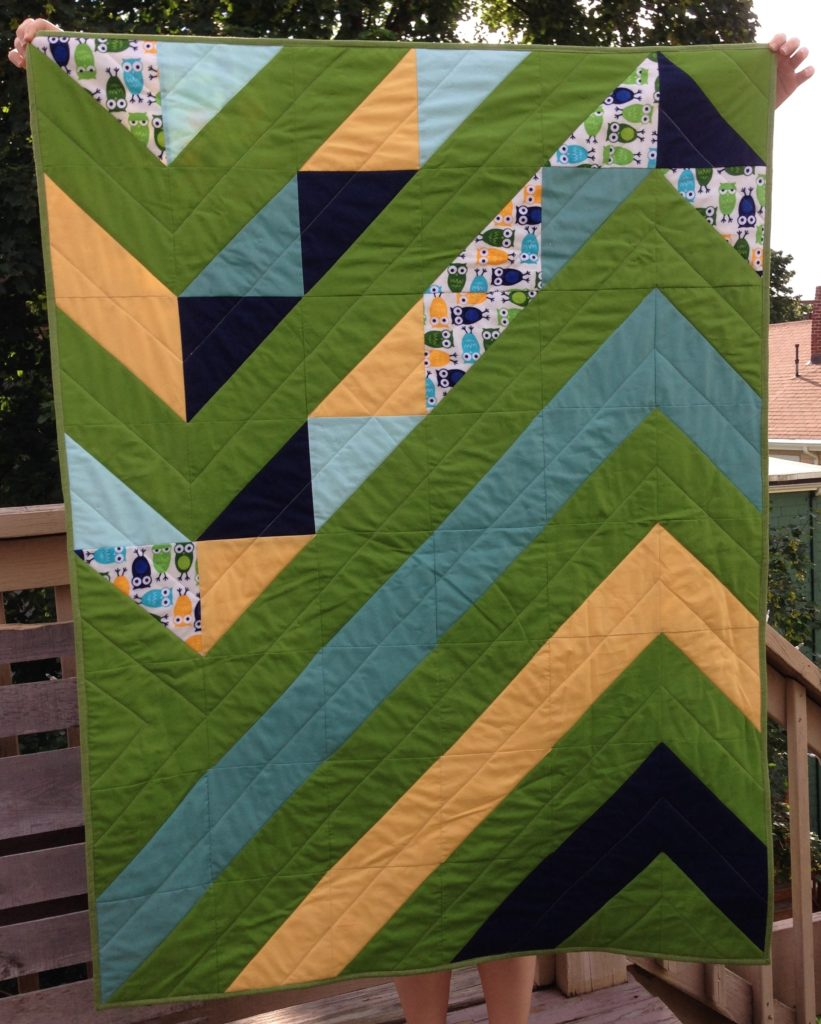 owl quilt: front