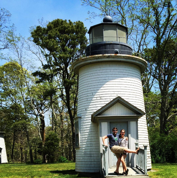 Three Sisters Lighthouses in Eastham, MA
