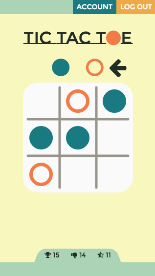 Tic-Tac-Toe: mobile game play